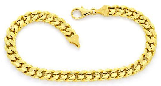 Foto 1, Flachpanzer Gold-Armband massiv Gelbgold gewölbt konkav, K2331