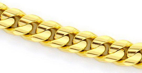 Foto 2, Flachpanzer Gold-Armband massiv Gelbgold gewölbt konkav, K2331