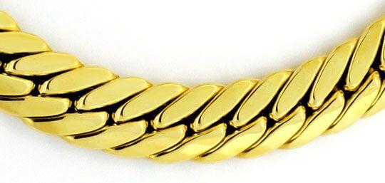 Foto 2, Enge Flachpanzer-Kette Gold-Kette Gold-Kollier 14K Gold, K2333