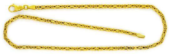 Foto 1, Königs-Kette Gold-Kette massiv Gelb-Gold 14K Achtkantig, K2336
