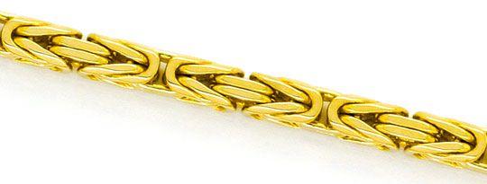 Foto 2, Königs-Kette Gold-Kette massiv Gelb-Gold 14K Achtkantig, K2336