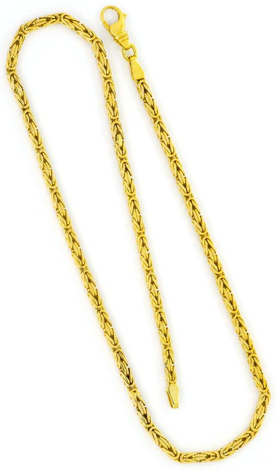 Foto 3, Königs-Kette Gold-Kette massiv Gelb-Gold 14K Achtkantig, K2336