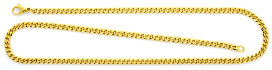 Foto 1, Flachpanzerkette Goldkette massiv Gelbgold 14K 8-Kantig, K2341