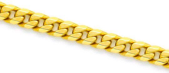 Foto 2, Flachpanzerkette Goldkette massiv Gelbgold 14K 8-Kantig, K2341