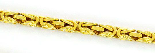 Foto 2, Königs-Kette Gold-Kette massiv Gelb-Gold 14K Abgerundet, K2343