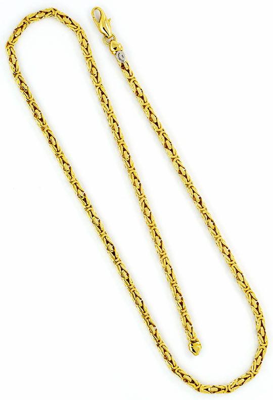 Foto 3, Königs-Kette Gold-Kette massiv Gelb-Gold 14K Abgerundet, K2343