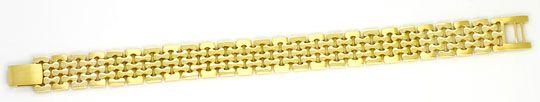 Foto 1, Massives fünfreihiges Designer Goldarmband Gelbgold 14K, K2345