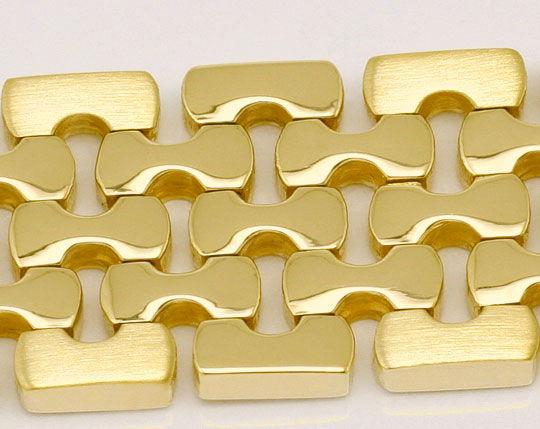 Foto 2, Massives fünfreihiges Designer Goldarmband Gelbgold 14K, K2345