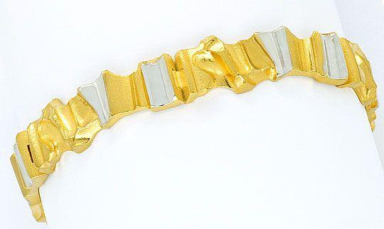 Foto 1, Original Lapponia Designer Gold-Armband Golden Rock 14K, K2346