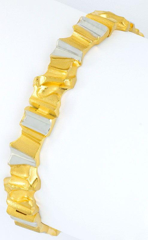 Foto 2, Original Lapponia Designer Gold-Armband Golden Rock 14K, K2346