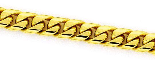 Foto 2 - Flachpanzerkette gewölbt Goldkette massiv Gelb Gold 14K, K2347