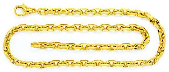 Foto 1, Supermassive Anker-Kette Goldkette massiv Gelb-Gold 18K, K2349