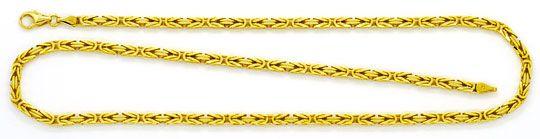 Foto 1, Königskette Goldkette massiv Gelb-Gold 14K/585 Achtkant, K2351