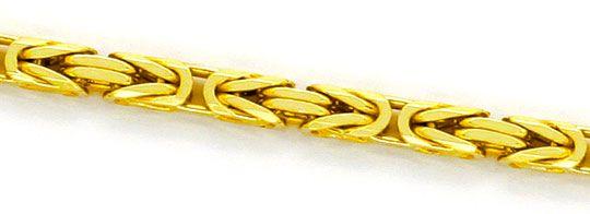 Foto 2, Königskette Goldkette massiv Gelb-Gold 14K/585 Achtkant, K2351