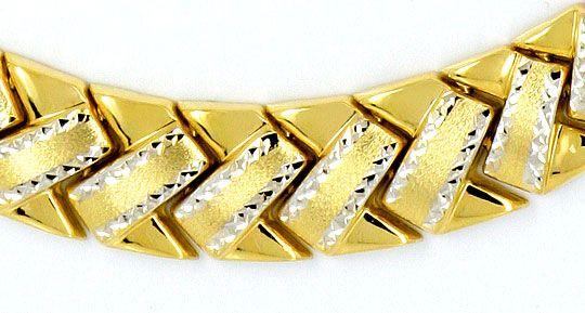 Foto 2, Designer-Z-Gold-Kollier Gelbgold teilrhodiniert 14K/585, K2362