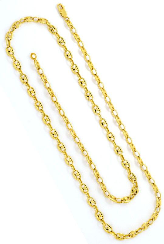 Foto 3, Marina Bohnen Schiffsanker Goldkette massiv 18Kgelbgold, K2364