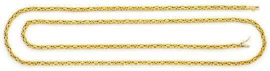 Foto 1, Königskette Goldkette massiv Gelbgold Kasten-Verschluss, K2365