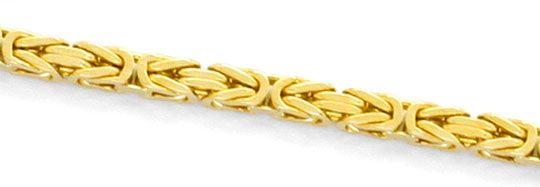 Foto 2, Königskette Goldkette massiv Gelbgold Kasten-Verschluss, K2365