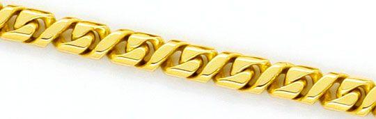 Foto 2, Design Flachpanzer Goldkette Achteckig Querstege massiv, K2366