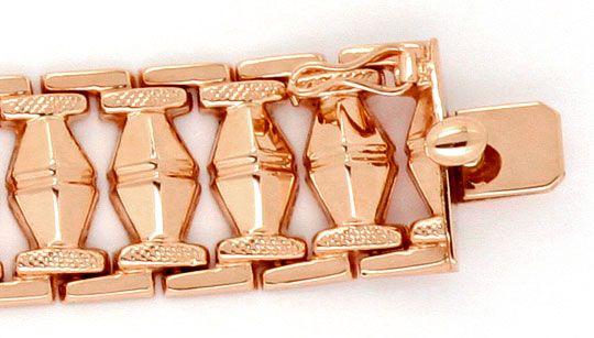 Foto 3, Rotgold Rauten Backstein Gold-Armband Kasten-Verschluss, K2369
