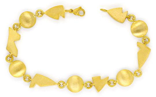 Foto 1, Set Vieleck-Diskus-Gold-Kette und Gold-Armband 18 Karat, K2373