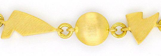 Foto 2, Set Vieleck-Diskus-Gold-Kette und Gold-Armband 18 Karat, K2373