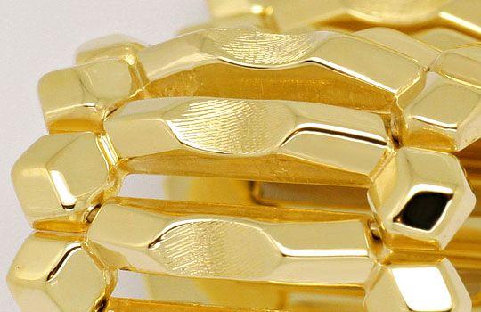 Foto 2, Breites dekoratives Phantasie Gold-Armband Gelbgold 14K, K2376