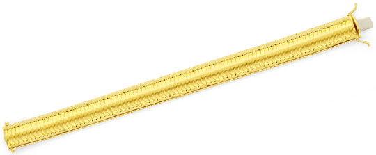 Foto 1, Designer-Schuppen-Goldarmband massiv Hunderte Teile 14K, K2379