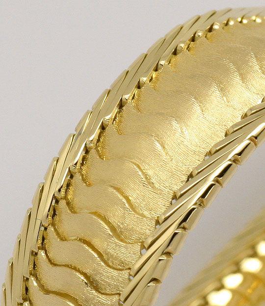 Foto 2, Designer-Schuppen-Goldarmband massiv Hunderte Teile 14K, K2379