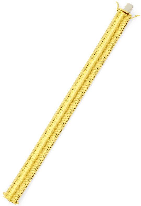 Foto 3, Designer-Schuppen-Goldarmband massiv Hunderte Teile 14K, K2379
