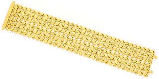 Foto 1, Breites dekoratives Designer Gold-Armband, Gelbgold 18K, K2380