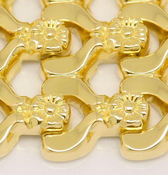 Foto 2, Breites dekoratives Designer Gold-Armband, Gelbgold 18K, K2380