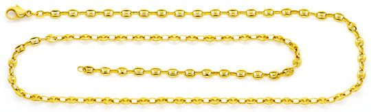 Foto 1, Massive Schiffsanker Bohnen Marina Gold-Kette Gelb-Gold, K2382