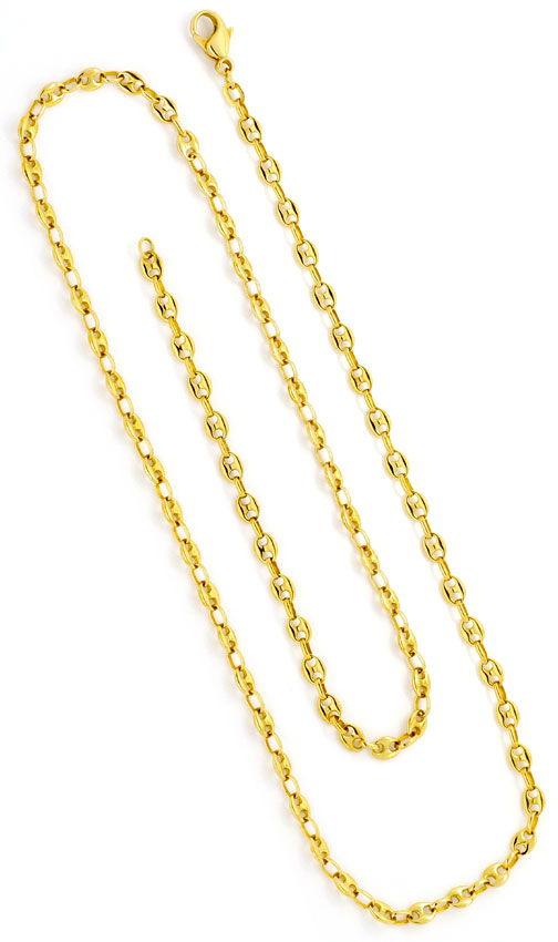 Foto 3, Massive Schiffsanker Bohnen Marina Gold-Kette Gelb-Gold, K2382