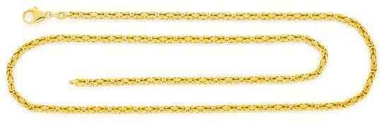 Foto 1, Massive Königskette Gold-Kette massiv Gelb-Gold 14K/585, K2384