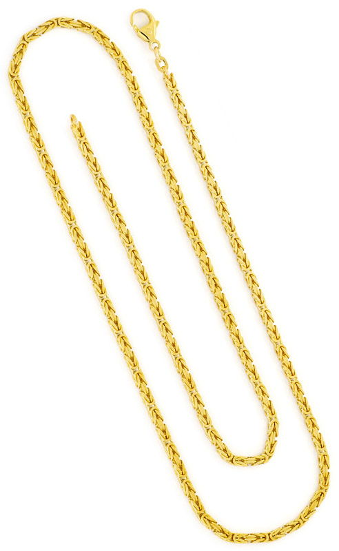 Foto 3, Massive Königskette Gold-Kette massiv Gelb-Gold 14K/585, K2384