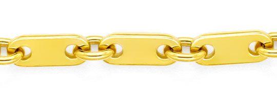 Foto 2, Massive Plättchenkette Goldkette Gelbgold Karabiner 14K, K2385