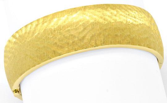 Foto 1, Gold-Armreif feinste Gravur, 14K/585 Doppel-Verschlusss, K2388