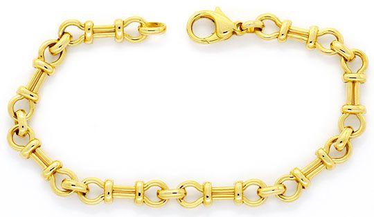 Foto 1, Designer Gold-Armband massiv Gelb-Gold Gebundene Achter, K2389