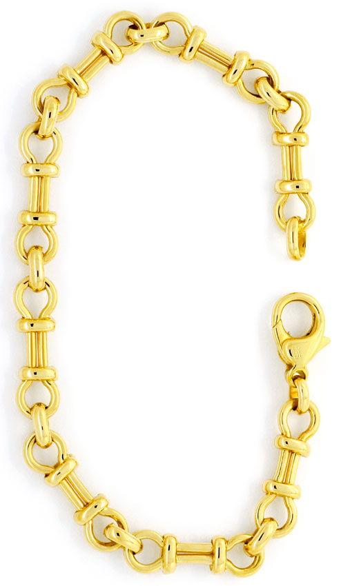 Foto 2, Designer Gold-Armband massiv Gelb-Gold Gebundene Achter, K2389