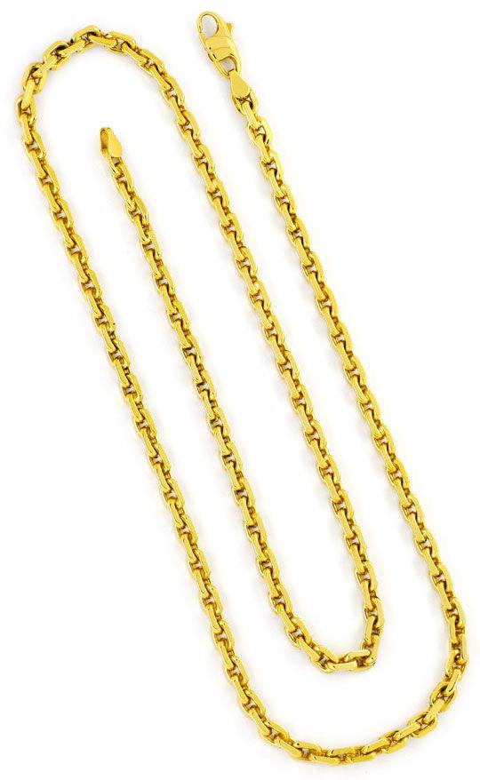 Foto 3, Ankerkette Goldkette Karabiner massiv Gelb-Gold 14K/585, K2391