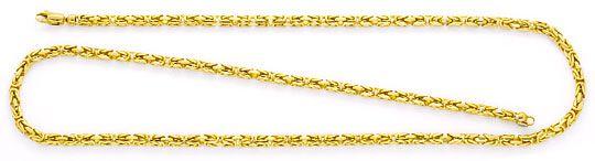 Foto 1, Königskette massiv Gelbgold Koenigskette Abgerundet 14K, K2393