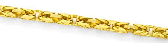 Foto 2, Königskette massiv Gelbgold Koenigskette Abgerundet 14K, K2393
