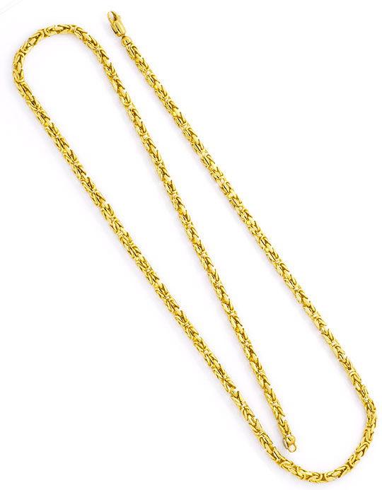 Foto 3, Königskette massiv Gelbgold Koenigskette Abgerundet 14K, K2393