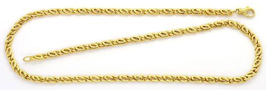 Foto 1, Massive Pfauenauge Tigerauge Goldkette Gelbgold 18K/750, K2394