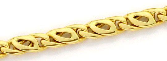 Foto 2, Massive Pfauenauge Tigerauge Goldkette Gelbgold 18K/750, K2394