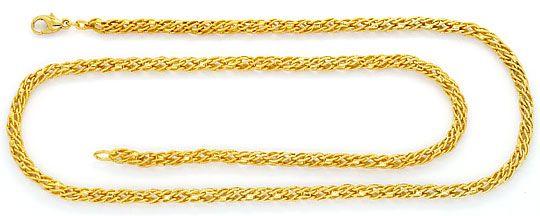 Foto 1, Designer Fantasie Kordel Goldkette Gelbgold 14K/585 Neu, K2395