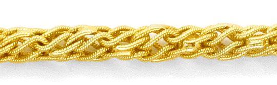 Foto 2, Phantasie Kordel-Goldkette Gelb-Gold 14K/585 Ungetragen, K2396