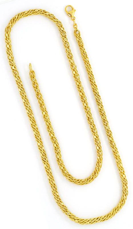 Foto 3, Phantasie Kordel-Goldkette Gelb-Gold 14K/585 Ungetragen, K2396