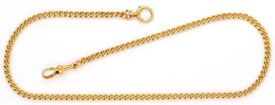 Foto 1, Taschenuhr-Goldkette antik massiv Rotgold 15 Karat, 625, K2400